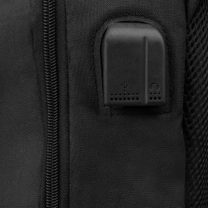 Модный черный рюкзак из пвх ATS-3283 212986