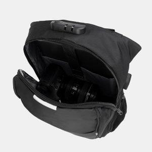 Модный черный рюкзак из пвх ATS-3283 212985