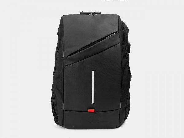 Солидный черный рюкзак из пвх ATS-3285