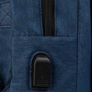 Деловой синий рюкзак из пвх ATS-3286 212965