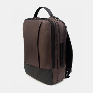 Деловой коричневый рюкзак из пвх ATS-3289 212941