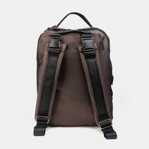 Деловой коричневый рюкзак из пвх ATS-3289 212942