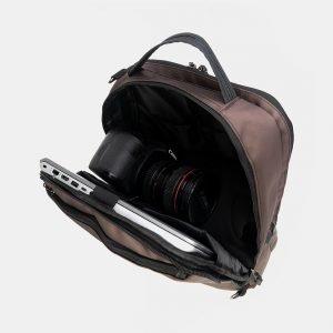 Деловой коричневый рюкзак из пвх ATS-3289 212944