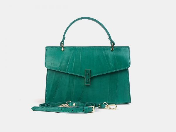 Деловой зеленый женский клатч ATS-3556