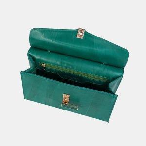 Деловой зеленый женский клатч ATS-3556 212082