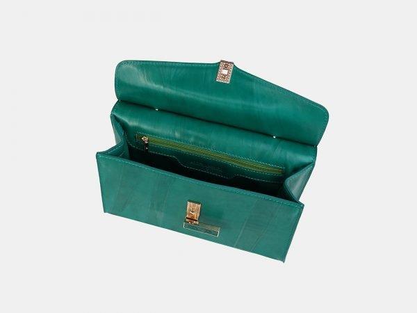 Солидный зеленый женский клатч ATS-3556
