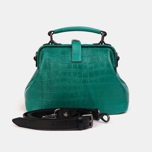 Деловая зеленая женская сумка ATS-3554