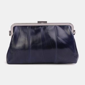 Стильный синий клатч с росписью ATS-3706 211528
