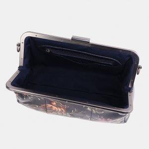 Стильный синий клатч с росписью ATS-3706 211529