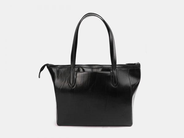 Вместительная черная сумка с росписью ATS-3712