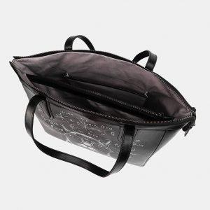 Модная черная сумка с росписью ATS-3712 211503