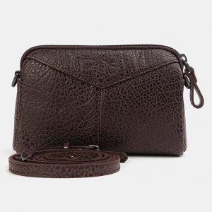 Функциональный коричневый женский клатч ATS-3705