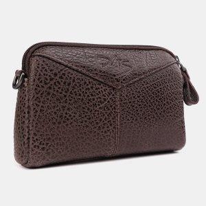 Функциональный коричневый женский клатч ATS-3705 211532
