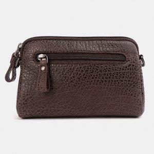 Функциональный коричневый женский клатч ATS-3705 211533