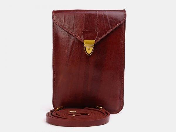 Стильный светло-коричневый женский клатч ATS-3726