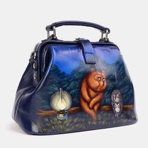 Удобная синяя сумка с росписью ATS-3740 211392