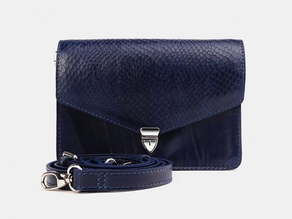 Удобная синяя женская сумка на пояс ATS-3755