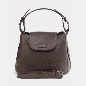 Солидная коричневая женская сумка ATS-3742