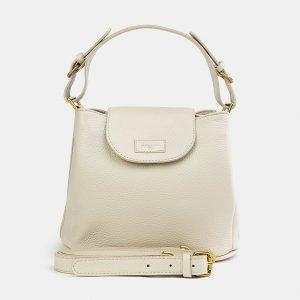 Удобная бежевая женская сумка ATS-3744