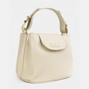Удобная бежевая женская сумка ATS-3744 211377