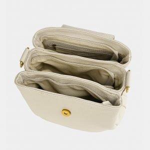 Удобная бежевая женская сумка ATS-3744 211379
