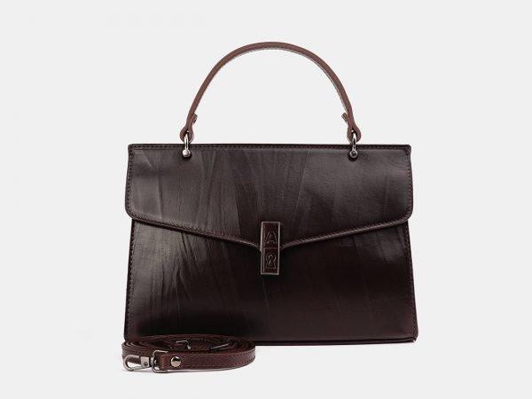 Солидный коричневый женский клатч ATS-3849