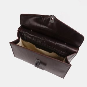 Солидный коричневый женский клатч ATS-3849 210897
