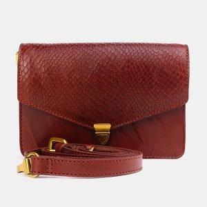 Солидная светло-коричневая женская сумка на пояс ATS-3776