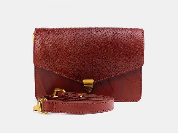 Стильная светло-коричневая женская сумка на пояс ATS-3776