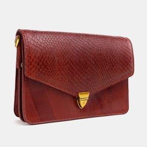 Стильная светло-коричневая женская сумка на пояс ATS-3776 211267
