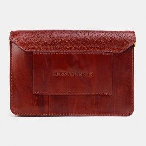 Стильная светло-коричневая женская сумка на пояс ATS-3776 211268