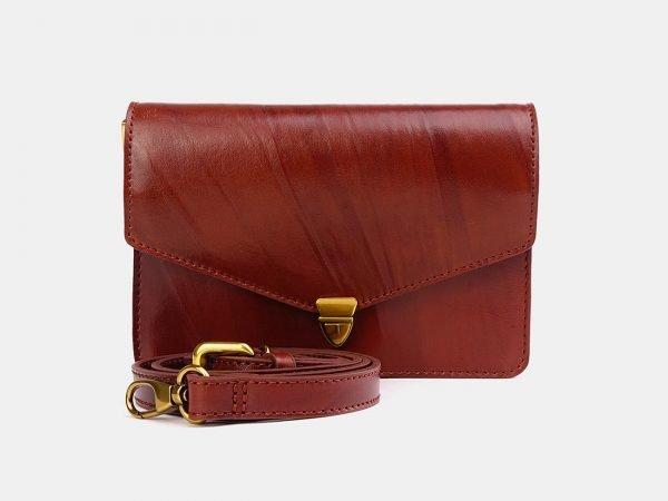 Деловая светло-коричневая женская сумка на пояс ATS-3777