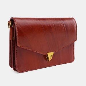 Деловая светло-коричневая женская сумка на пояс ATS-3777 211262