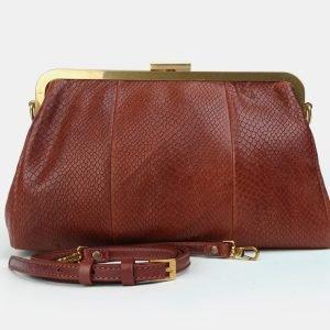 Солидный светло-коричневый женский клатч ATS-3298