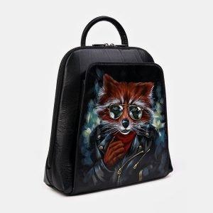Модный черный рюкзак с росписью ATS-3336 212814