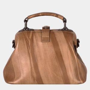 Стильная бежевая сумка с росписью ATS-1633 216594