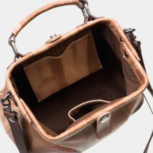 Стильная бежевая сумка с росписью ATS-1633 216595