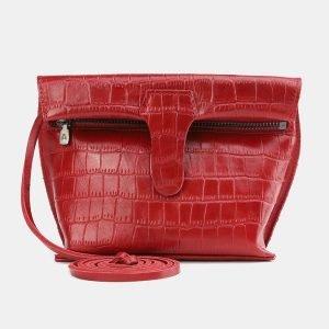 Неповторимый красный женский клатч ATS-3848