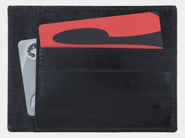 Солидная черная визитница ATS-1810