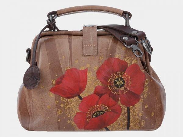 Уникальная бежевая сумка с росписью ATS-1798