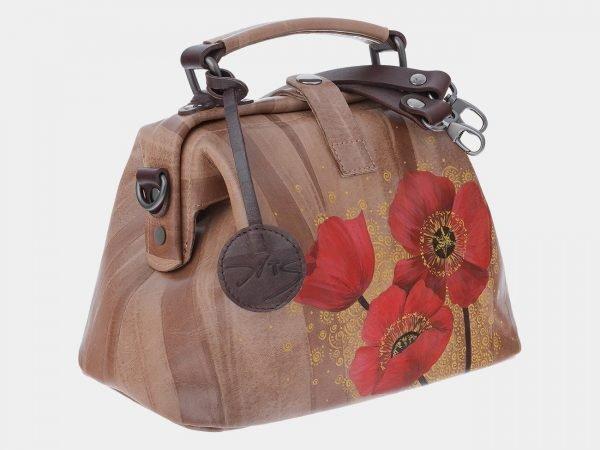 Стильная бежевая сумка с росписью ATS-1798