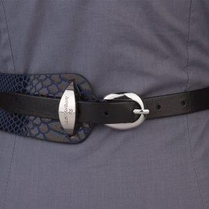 Кожаный черный женский модельный ремень ATS-1261 216896