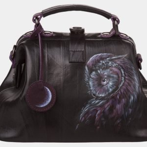 Уникальная черная сумка с росписью ATS-1200