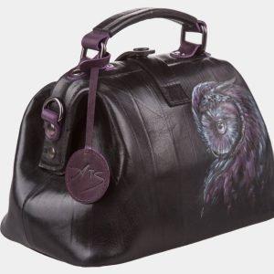 Вместительная черная сумка с росписью ATS-1200 216983
