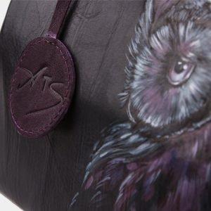 Вместительная черная сумка с росписью ATS-1200 216981