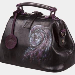 Вместительная черная сумка с росписью ATS-1200 216982