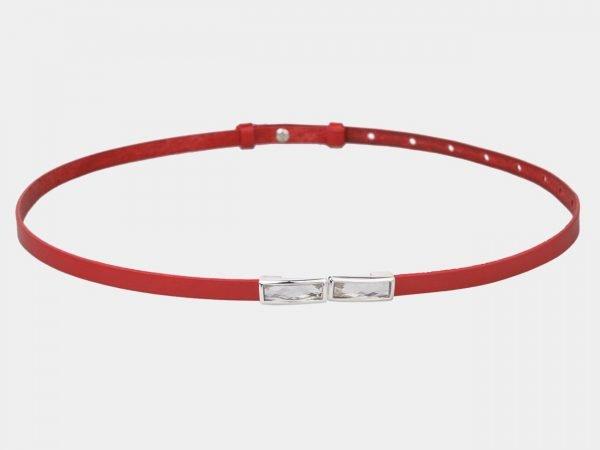 Солидный красный женский модельный ремень ATS-1323