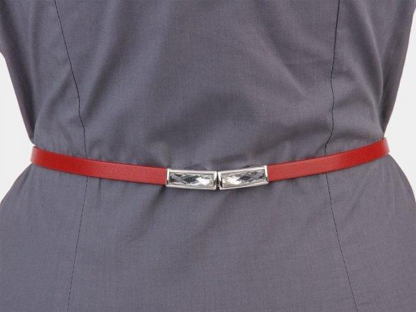 Уникальный красный женский модельный ремень ATS-1323