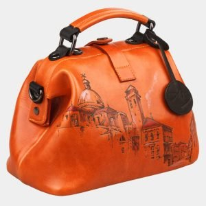 Вместительная оранжевая сумка с росписью ATS-1236 216954