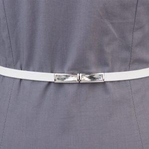 Кожаный белый женский модельный ремень ATS-1322 216831
